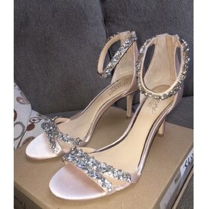 Jewel Badgely Mischka Caroline Ankle Strap Heels